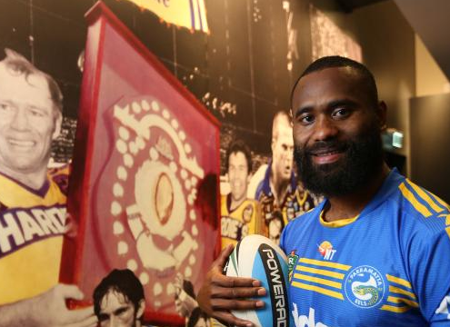 Semi Radradra working with Logie winner Rachel Friend to help him deal with media attention.
